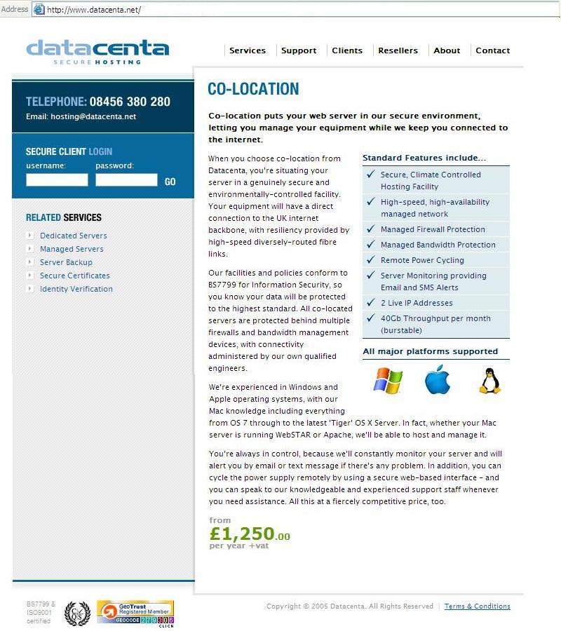 Datacenta web copy